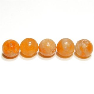 オレンジカルサイト ラウンド6mm 【1個】 《心の弱さを補い意志を強化する石》