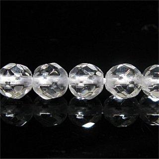 天然水晶 (AAA) クリスタル 32面ラウンドカット4mm 【1個】 《すべてを浄化し活性化する石》