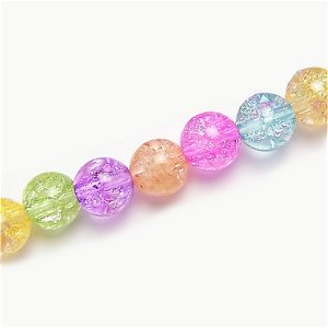 クラック水晶(7色セット) 4mm【7個】