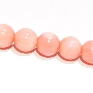 ピンクコーラル ラウンド6mm 【1個】 《健康と幸福を願うお守りの石》