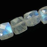 《宝石質》 レインボームーンストーン(AAA)キューブカット5-6mm 【1個】