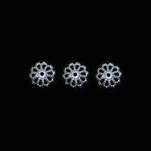 ビーズキャップ(菊座) プラチナ色6mm 【20個+1】(予備付)