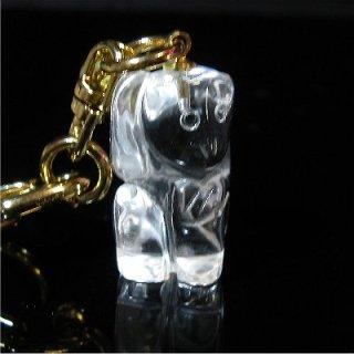 《縁起物》開運 お猿キーホルダー(本水晶製)【魔除け】