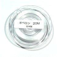 オペロンゴム(水晶の線)20m巻ホワイト ブレスレット用ゴム糸 【日本製】