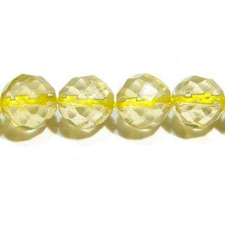 レモンクォーツ (AAA)64面カット 6mm【1個】
