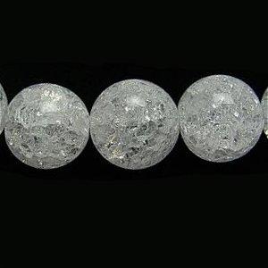クラック水晶 (ホワイト) ラウンド8mm 【1個】