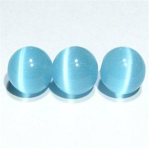 キャッツアイビーズ (ライトブルー2)10mm【1個】