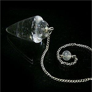 ヒマラヤ水晶プレーン ペンデュラム(ハンマーロックカット)