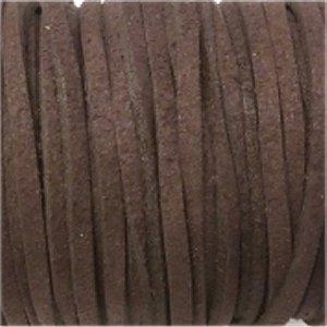 革紐 3X2mm(高品質スエード調合皮紐)平線ブラウン 【1m】