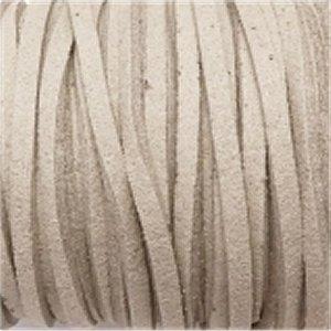革紐 3X2mm(高品質スエード調合皮紐)平線ベージュ 【1m】