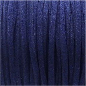 革紐 3X2mm(高品質スエード調合皮紐)平線ネイビー 【1m】