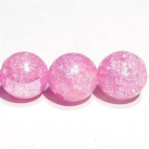 フラッシュ ピンクカラークラック水晶 8mm 【1個】