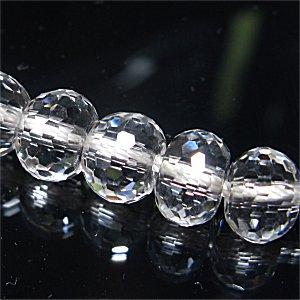 天然水晶(AAA) ボタンカット《シャンデリア》8X8X6mm 【1個】