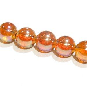 オレンジフラッシュ水晶(クォーツ) 6mm【1個】