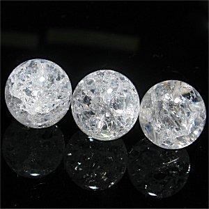 クラック水晶(ホワイト)ラウンド 14mm【1個】