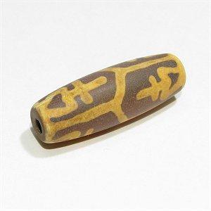 チベット天珠【寶瓶老鉱天珠】10X30mm(平安と幸運を招く)