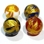 神獣彫刻ビーズ4種セット(12mmX4個)