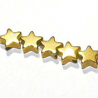 ヘマタイト スター星(★)ゴールド4X2mm 【2個】