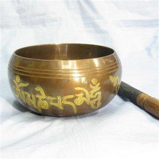 《チベット法具》シンギングボール(スティック付)身体活性化、集中力強化、安眠