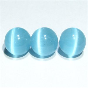 《特価》 上質キャッツアイビーズ (ブルー) ラウンド10mm 【半連】 《10%OFF》