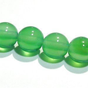 グリーンカラーカルセドニー ラウンド6mm 【1個】