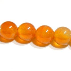 天然色 オレンジカルセドニー (AAA)ラウンド 6mm 【1個】