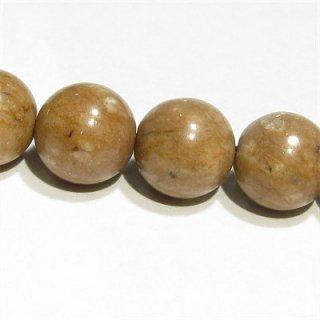 《新潟県産》 姫川薬石(鳶色) ラウンド8mm ラジウム温泉効果 【1個】 《ガンなどの病気改善の石として人気》