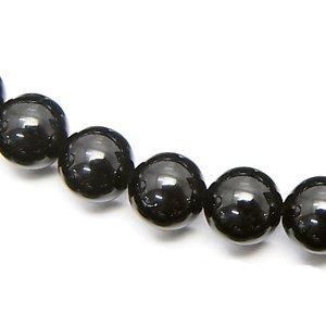 黒水晶 モリオン (AAA) ロシア産 ラウンド6mm 【1個】