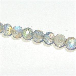 《宝石質》ラブラドライト(AAA)ラウンドカット 4mmシャンデリア 【1個】