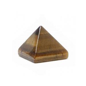 《風水縁起物》タイガーアイ ピラミッド 10X10mm 【目的達成のエネルギーを増幅する】