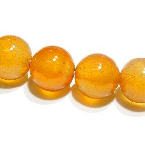 カーネリアン (AA++)ライトオレンジ ラウンド10mm  【1個】