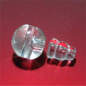 念珠用 親玉ボサ(上質 天然水晶)14mm 【1組】