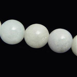 ミャンマー白翡翠 (AA++) ホワイトジェダイド ラウンド 12mm 【1個】 《冷静沈着さを養い人生を繁栄に導く》