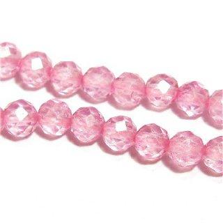 《宝石質》 ピンク トパーズ (AAA) ラウンドカット4mm シャンデリア仕様 【1個】 《持つ人の魅力を引き出す石》