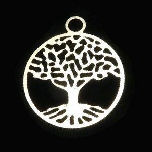 《縁起物》 ホーリーチャーム 『ツリーオブライフ』 生命の樹(調和) 23X20mm 【1個】