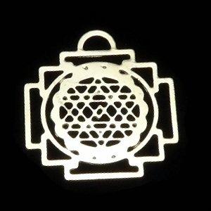 《縁起物》 ホーリーチャーム 『ヤントラ』 マントラの図形(繁栄) 21X20mm 【1個】