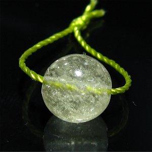 リビアンデザートグラス(リビアングラス)9mm 【1個】 《カルマを浄化する石》