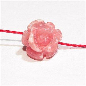 インカローズ 薔薇彫刻ビーズ 8mm アルゼンチン産 【1個】 《人間的な魅力を引き出す石》