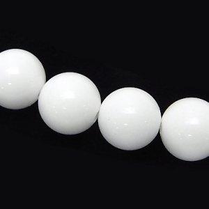 ホワイトオニキス (AAA)  ラウンド4mm 【1個】 《雑念を祓い目的達成を助ける石》
