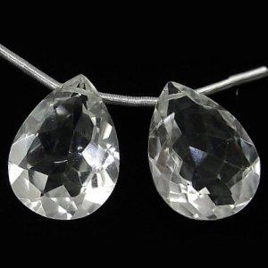 《宝石質》 天然水晶 クリスタル(AAA)ペアシェイプ ファセットカット 12X8X5mm 【1個】 《すべてを浄化し活性化する石》
