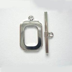 マンテル レクタングル形(プラチナ色)外形12X7mm 【1セット】