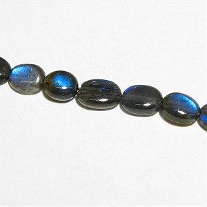 《宝石質》 ブラックラブラドライト(AAA-) オーバル4.5-6mm  【1個】 《信念を貫く力を高める石》