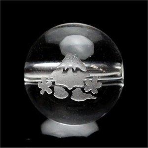 《縁起物》水晶彫刻ビーズ 『富士山』 の彫刻10mm 【1個】