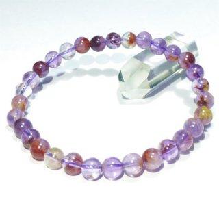 《Present》 庭園紫水晶 ガーデンアメジスト・ブレスレット (6.5mm) 《深い癒しと強力な財運効果》