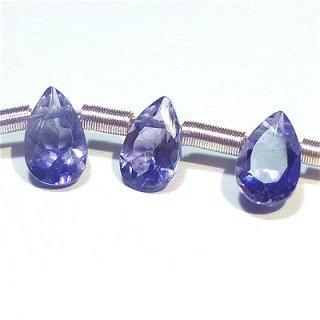 《宝石質》 アイオライト (AAA) ペアシェイプ ファセットカット6X4mm 【1個】 《人間関係の不和を解消する石》