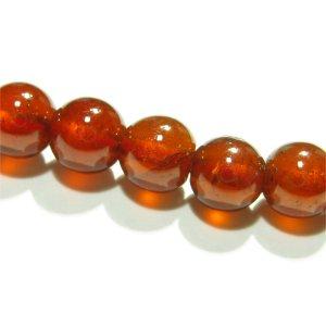 《宝石質》 ヘソナイト (AAA) オレンジガーネット6mm 【1個】 《人生に成功と実りをもたらす石》