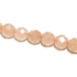 オレンジムーンストーン (AAA-) ラウンドカット4mm シャンデリア仕様 【8個】 《出産・更年期をサポートする石》