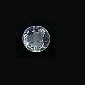 《干支縁起物》水晶彫刻ビーズ 『うし(丑年)』 素彫り10mm 【1個】 《誠実で粘り強い精神力》