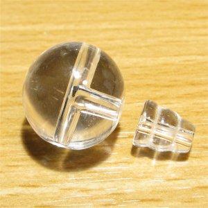 念珠用 親玉ボサ(上質 天然水晶)18mm 【1組】