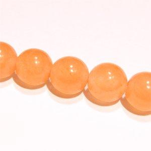 ジェード (ピンクオレンジ)ラウンド 8mm 【1個】
